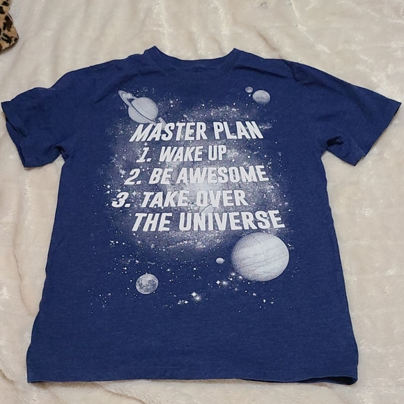 """PLACE Space Graphic T-Shirt """"Master Plan"""" Universe"""